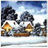Зимушка в деревне (триптих) 35-5550-НЗТ (2016) без сетки