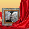 Картина Львиная нежность фон